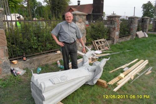 Budowa Pomnika Jana Pawła II 2011